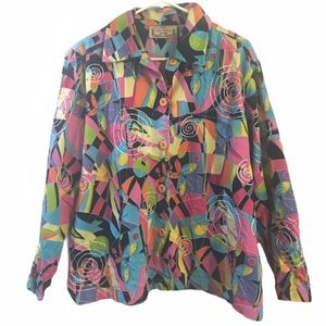 Colorful Jacket Vintage style Life Style Woman 1X